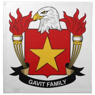 Gavit Family Crest Cloth Napkins