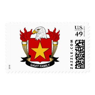 Gavit Family Crest Stamp