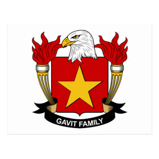 Gavit Family Crest Postcard