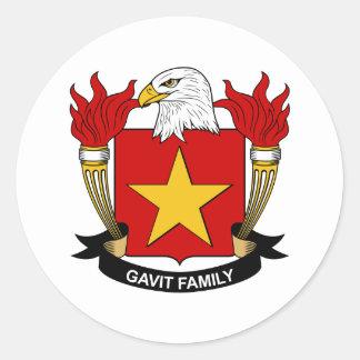 Gavit Family Crest Round Stickers