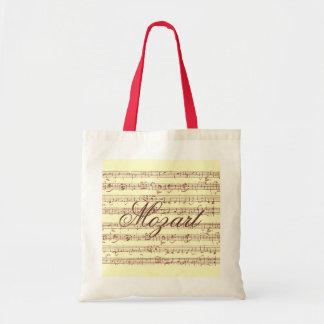 Gavotte de Mozart - tote del presupuesto Bolsa Tela Barata