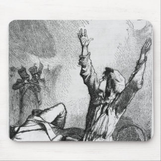 Gavroche had fallen only to rise again mouse pad