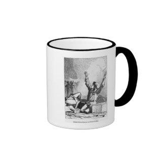 Gavroche had fallen only to rise again ringer coffee mug
