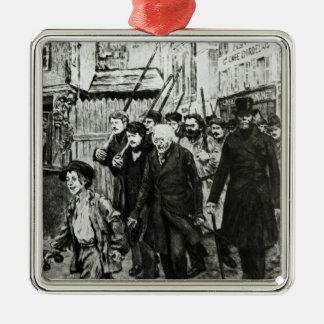 Gavroche Leading a Demonstration Metal Ornament