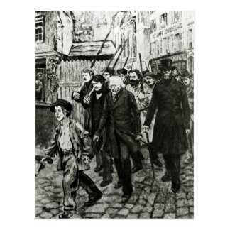 Gavroche Leading a Demonstration Postcard