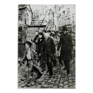Gavroche Leading a Demonstration Poster