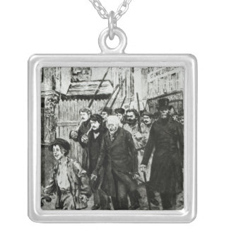 Gavroche Leading a Demonstration Silver Plated Necklace