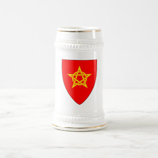 Gawain Pentangle Shield White+Gold Beer Stein