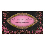 Gawdy Pink and Black Profile Business Cards