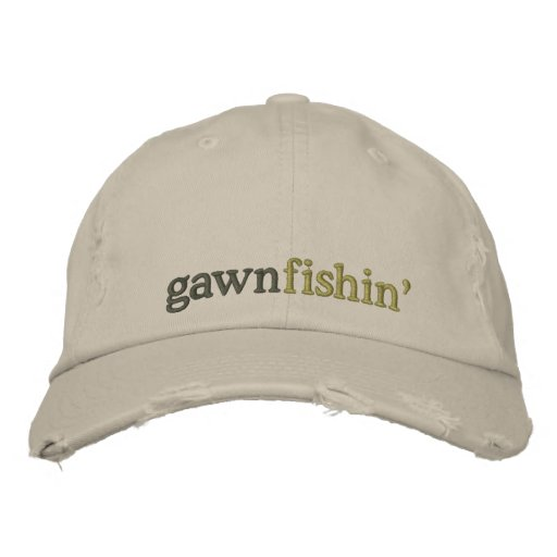 gawn fishin' cap embroidered hats