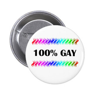 Gay 100% pin redondo de 2 pulgadas