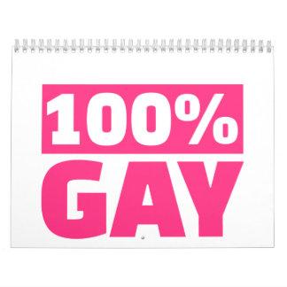 gay 100% calendario de pared