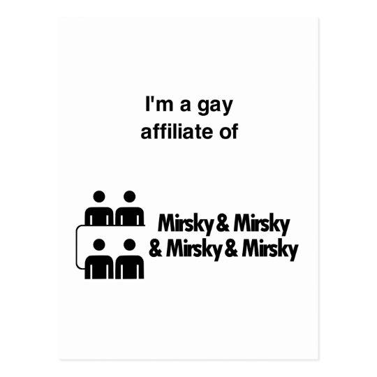 Gay Affiliates Postcard