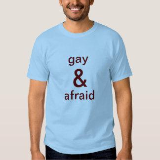 gay & afraid t-shirt