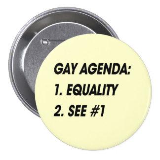 GAY AGENDA - EQUALITY PIN