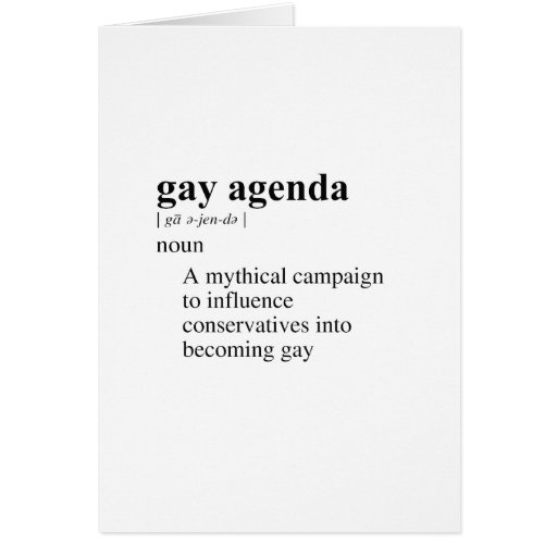 GAY AGENDA GREETING CARD