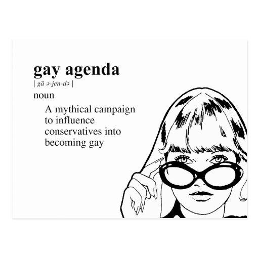 GAY AGENDA POST CARDS