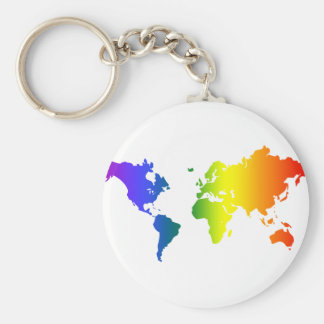 Gay all over the World Keychains