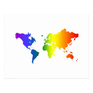 Gay all over the World Postcard