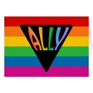 Gay Ally Triangle Card
