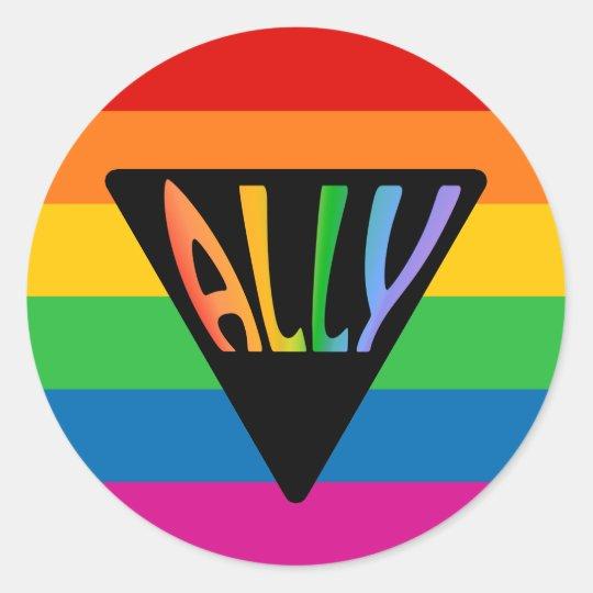 Lgbt Straight Ally Pyramid Symbol Classic Round Sticker Zazzle
