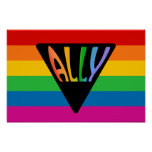 Gay Ally Triangle Poster