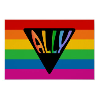 Gay Ally Triangle Posters