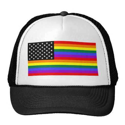 Gay America Pride Flag Trucker Hats
