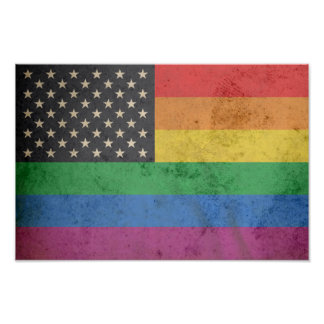 Gay American Flag Poster