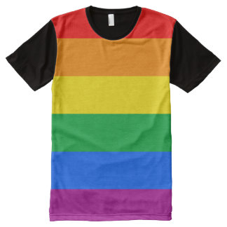 Gay American Flag - Rainbow 13 colors.png All-Over Print T-shirt