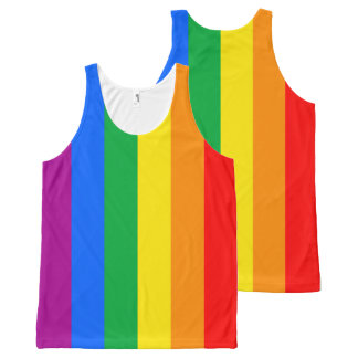 Gay American Flag - Rainbow 13 colors.png All-Over Print Tank Top