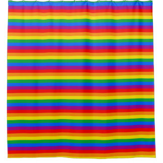 Gay American Flag - Rainbow 13 colors.png Shower Curtain