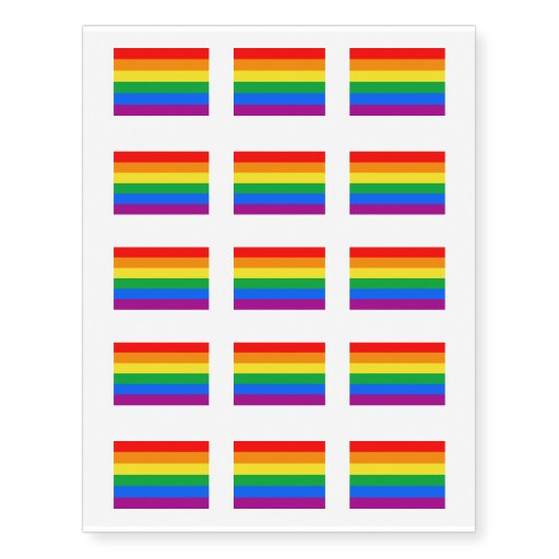 Gay American Flag Rainbow 13 Colors Png Temporary Tattoos Zazzle