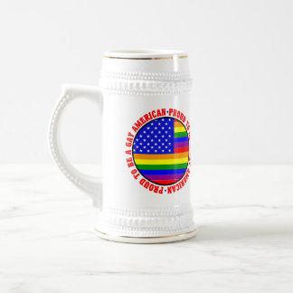 Gay American Gift Beer Stein