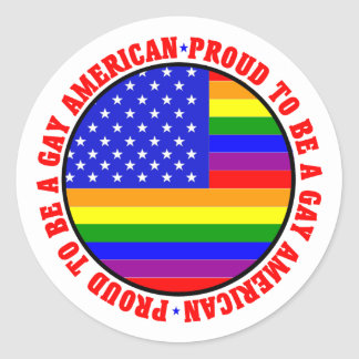 Gay American Gift Classic Round Sticker