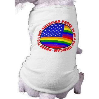 Gay American Gift Pet Tee Shirt