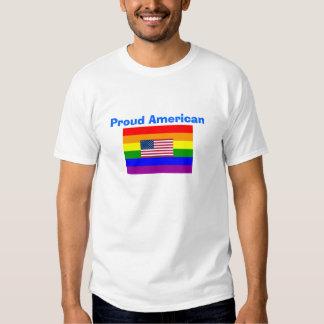 Gay americano orgulloso de GLBT* y camisa de la