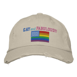 Gay and Fabulous Pride Flag Baseball Cap