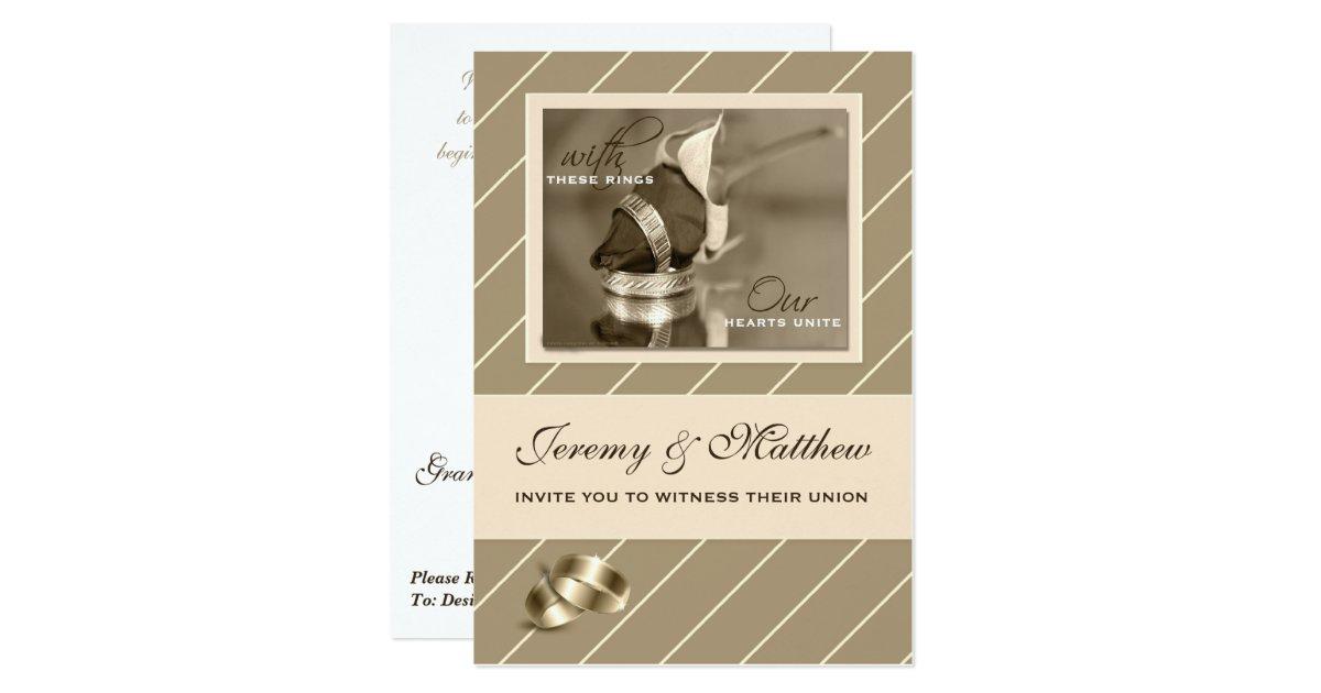 Zazzle Wedding Invitations.Shoptagr Gay And Lesbian Wedding Invitation Taupe Pinstripe By Zazzle
