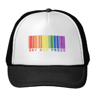 Gay and Proud  Bar Code Trucker Hat