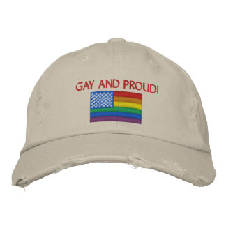 Gay and Proud Embroidered Baseball Cap