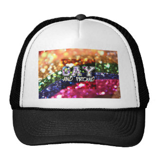 Gay and Proud Rainbow Design Trucker Hat