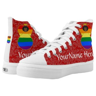 Gay Angel Flag African Red White High-Top Sneakers
