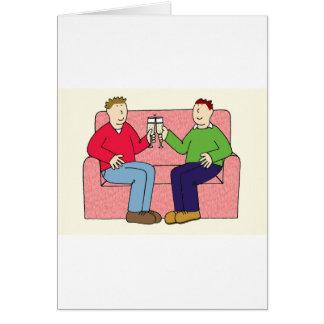 Gay anniversary celebration. card