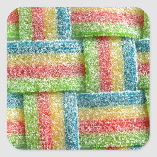 Gay Bacon Strips Square Sticker