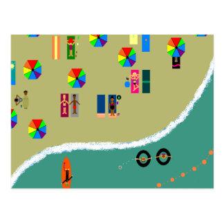 Gay beach postcard