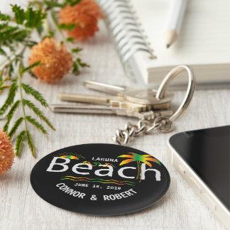 Gay Beach Wedding Rainbow Style Custom Favors Keychain