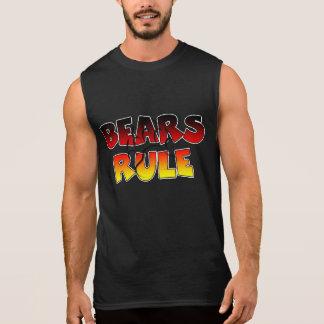 GAY BEAR BEAR PAW BEARS RULE SLEEVELESS SHIRT