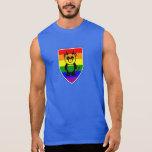 Gay bear claw rainbow panda sleeveless shirt