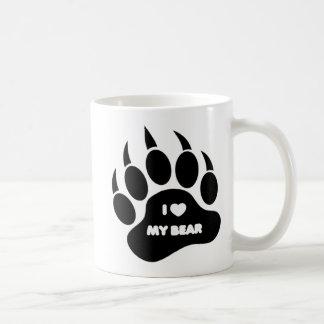 Gay Bear / Cub Mug I Heart my Bear in The Bear Paw